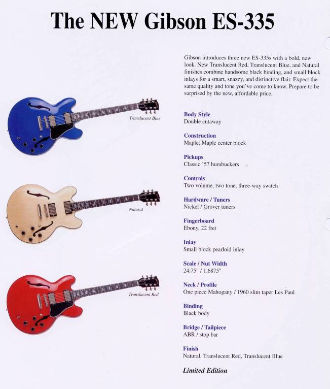 specs_ES335_ltd gibson es 335 limited edition with black binding? gibson es 335 wiring diagram at bayanpartner.co